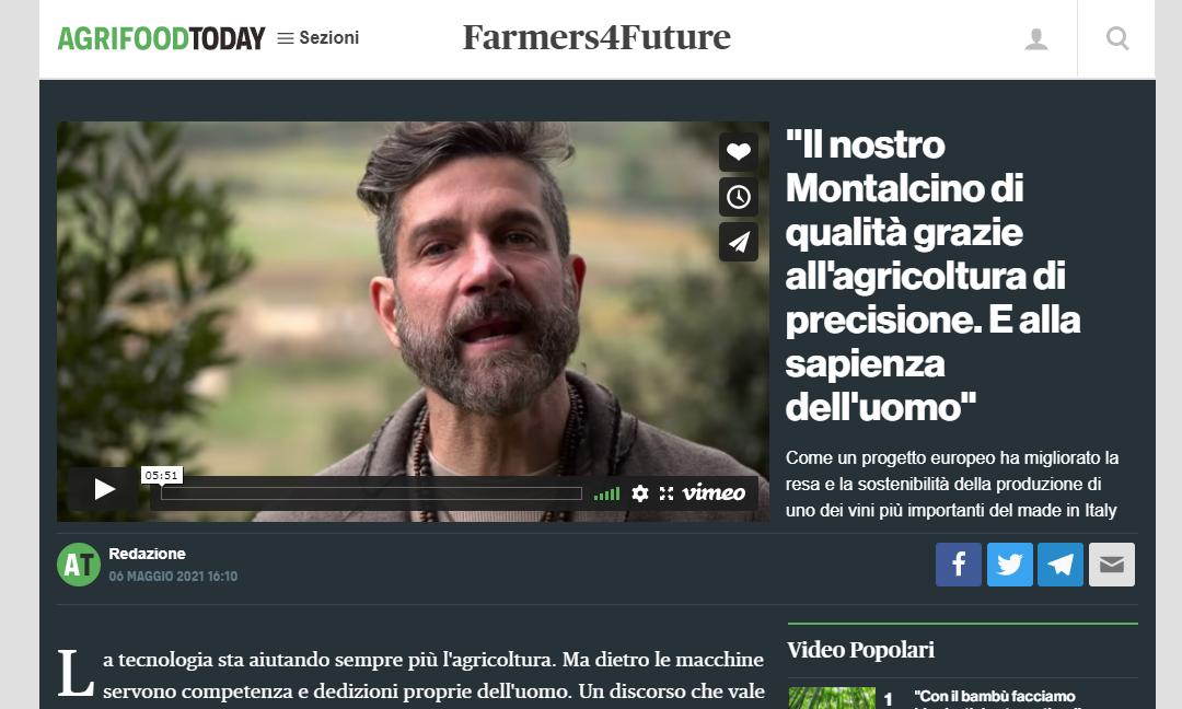 Parlano di noi. Campi Connessi su AgrifoodToday.it